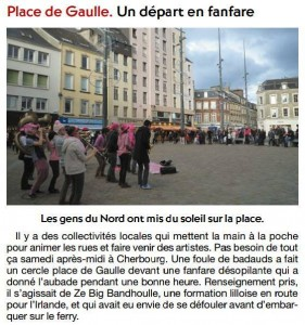 Article d'un journal local, la Presse de la Manche