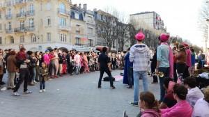 Avec Les Boules de Feu, Place d'Erlon - 26.03.2017, BAR à Reims